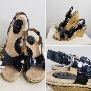 B.O.C. Born Concepts Kelly Black Sling Wedges